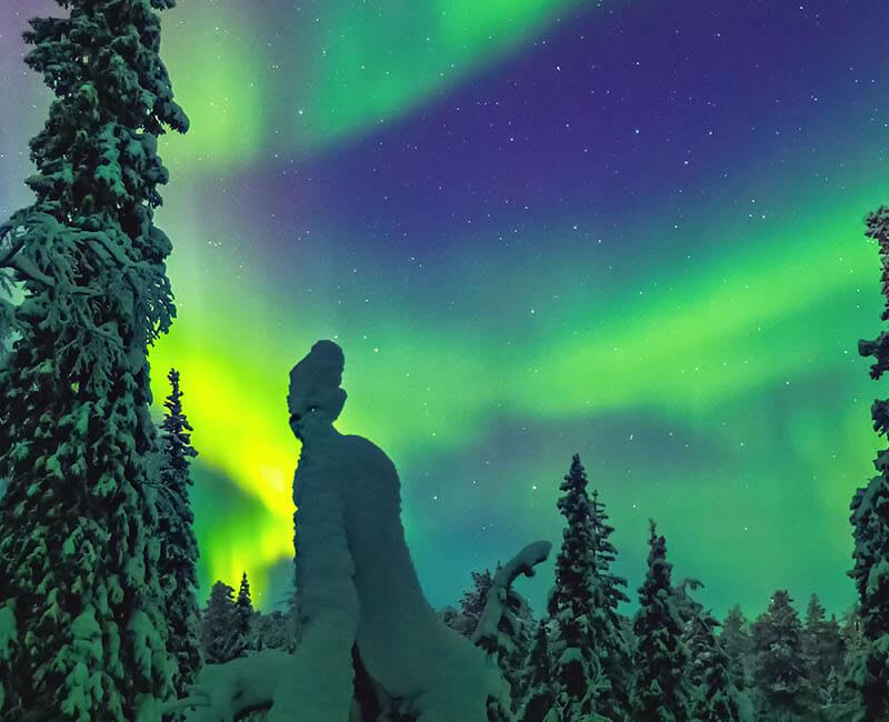 Aurores boréales Laponie